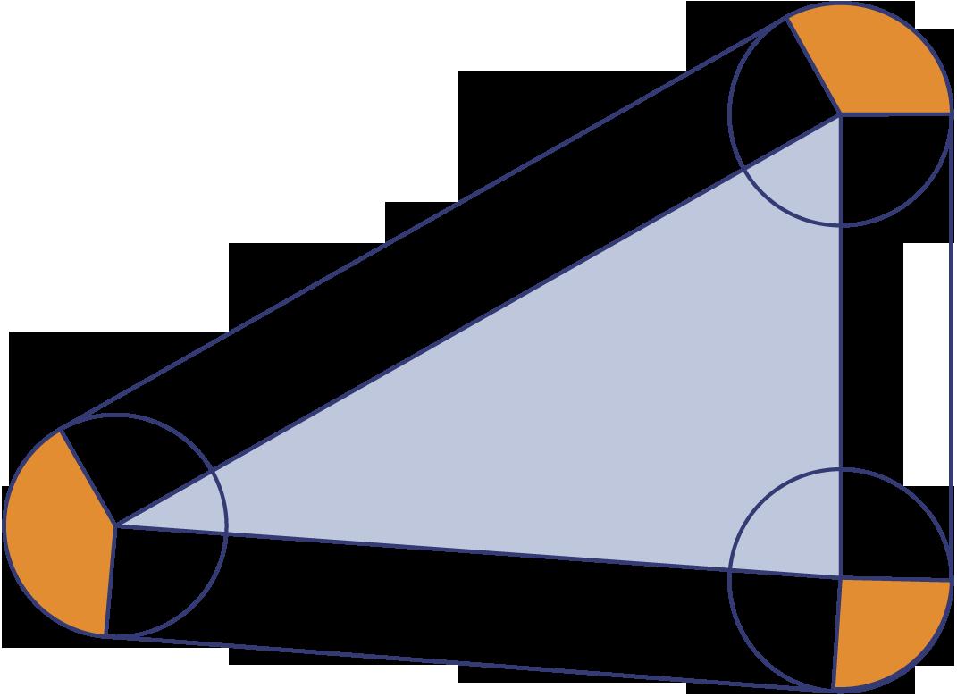 In de tekening zijn op de zijden van de eerste driehoek van de vorige opgave rechthoeken - Cm breedte van de basis tabel ...