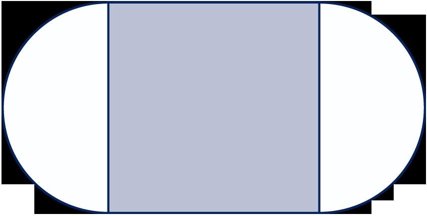 Door op een vierkant aan weerszijden een halve cirkel te zetten krijg je een ovaal een - Halve cirkelbank ...